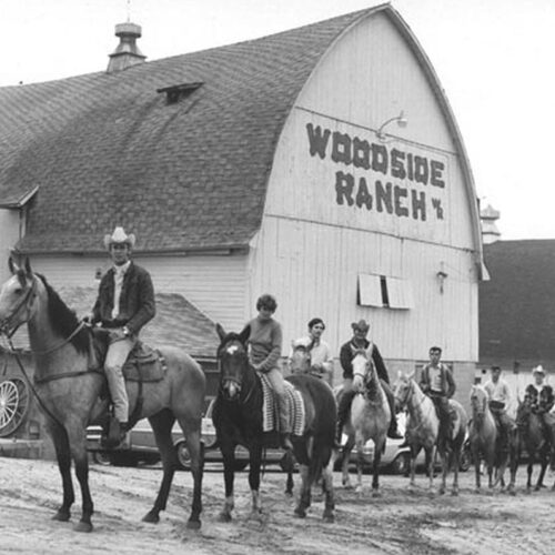 Woodside Ranch Old Picture Of People On Horses