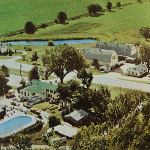 Old Aerial View Of Woodside Ranch