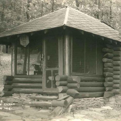 Black and White Picture Of A Cabin
