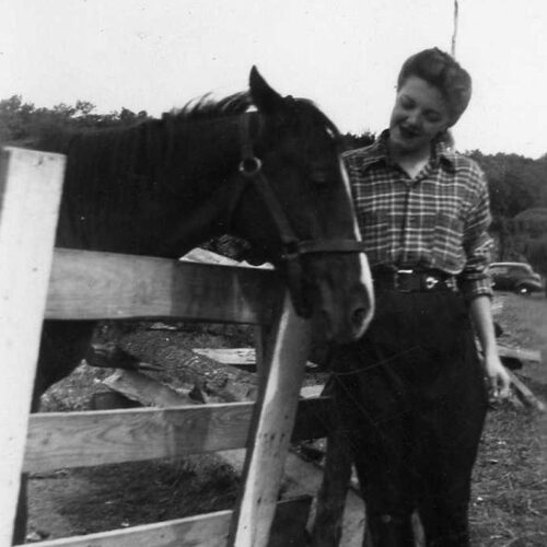 Vintage Image Of A Woman And A Horse