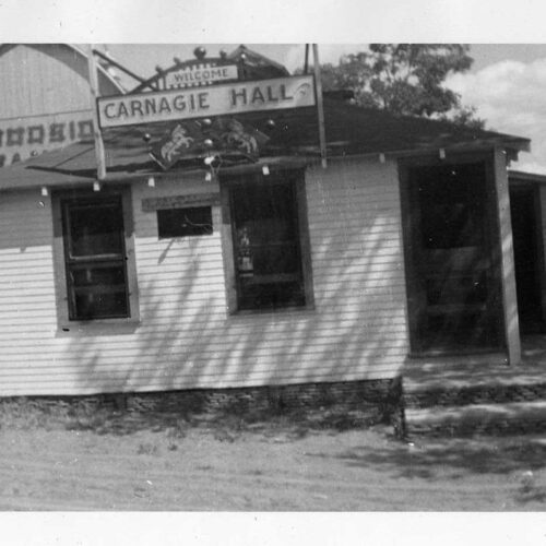 Old Photo Of Carnagie Hall At The Ranch