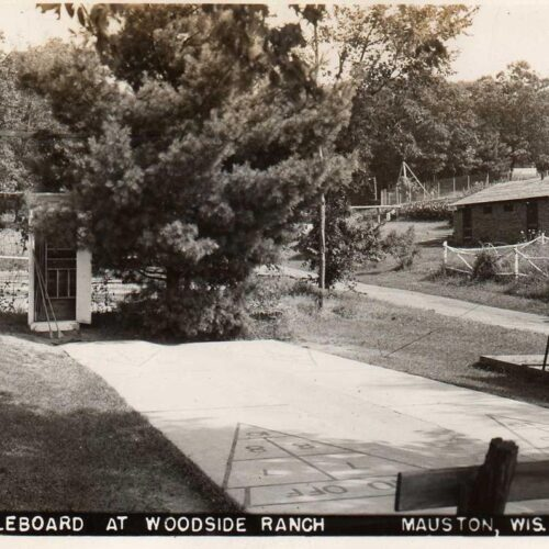 Old Picture Of The Shuffleboard At Woodside Ranch