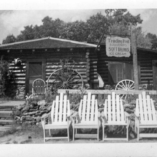 Old Picture Of The Trading Hall At The Ranch