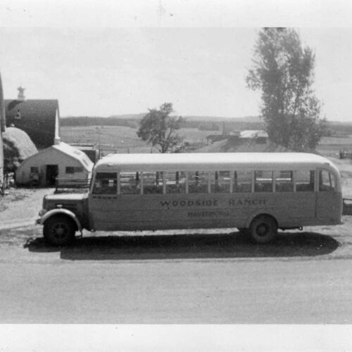 Vintage Picture Of The Woodside Ranch Bus