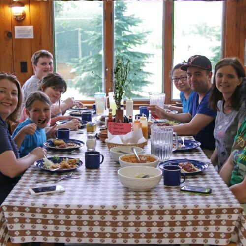 Group Of People Dining Together