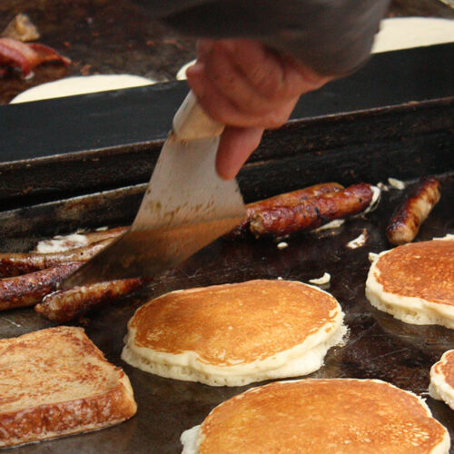 Woodside Ranch Pancakes And Sausages
