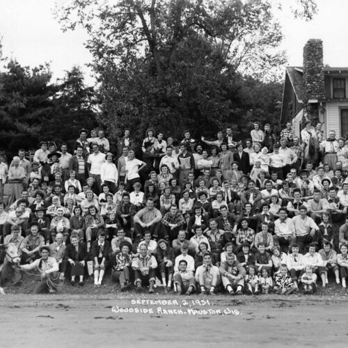A Vintage Group Picture At The Ranch