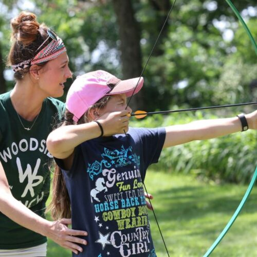 Young Girl Doing Archery