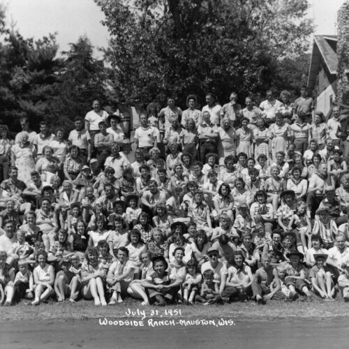 Black And White Group Photo At The Ranch