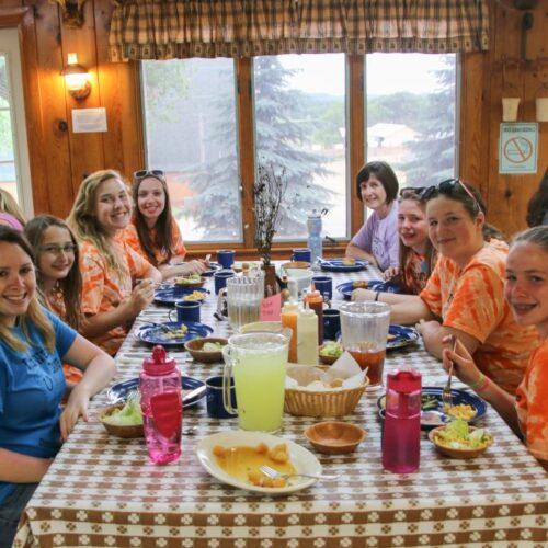 Group Of Women Enjoying Their Food