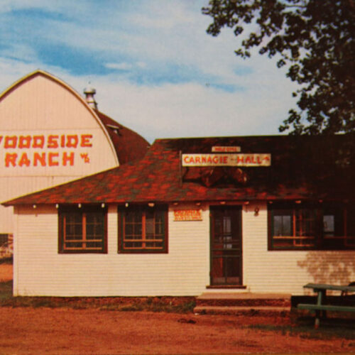 Old Picture Of The Woodside Ranch And Carnage-Hall